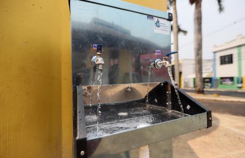 Equipamento está instalado na Santa Cruz, próximo ao ponto de táxi. (Foto: Amanda Rocha/ACidade ON) - Foto: Amanda Rocha