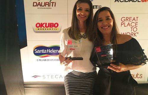 Premiação GPTW (Érika Callegari e Tamiris Pedro) - Foto: ACidade ON - Ribeirão Preto