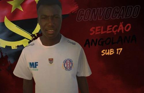 O atacante Estefânio Kamiaka foi convocado para a seleção angolana da categoria. Foto: Divulgação/ Grêmio Sãocarlense - Foto: Divulgação