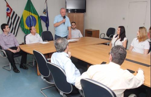 Evento que simbolizou a mudança da nomenclatura e a nomeação do novo gestor aconteceu no Paço Municipal - Foto: ACidade ON - Araraquara