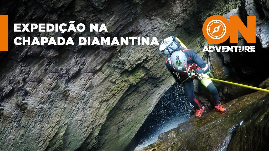 Rapel com 110 metros de altura na cachoeira da Fumacinha, Chapada Diamantina - BA   Imagem: Sanner Moraes - Foto: Sanner Moraes