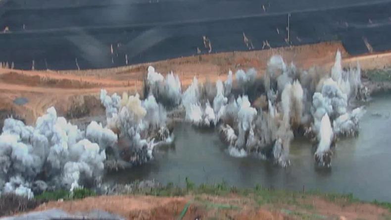 Vídeo: Daee explode rocha para construir barragem em Pedreira - ACidade ON