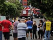 Explosão interdita vias próximas da avenida Caramuru