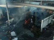 Grupo é preso ao tentar roubar empresa atingida por incêndio