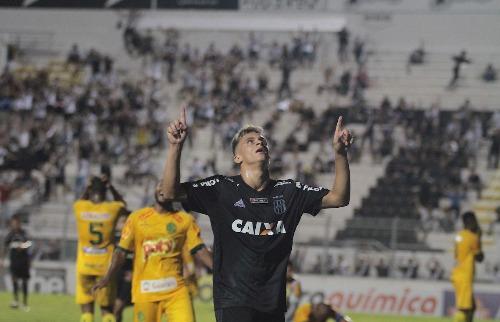 ACidade ON - Campinas - Felipe Saraiva comemora gol contra o Mirassol (Foto: Denny Cesare/Código 19)