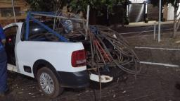 Tentativa de furto de fios pode causar falta d