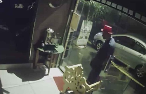 Suspeito usa cartola durante ação na madrugada - Foto: Reprodução