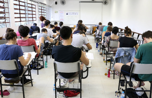 Estudantes durante prova da segunda fase da Fuvest - Foto: USP Imagens