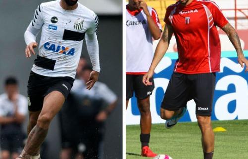 Ivan Storti / Santos FC - Rogério Moroti / Agência Botafogo - Gabigol quer provar que pode ser decisivo em duelo na Vila e Bruno Moraes pode ser o diferencial do Tricolor nas quartas (foto: Ivan Storti / Santos FC - Rogério Moroti / Agência Botafogo)