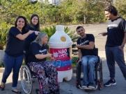 ONG arrecada lacres para trocar por cadeiras de rodas infantil