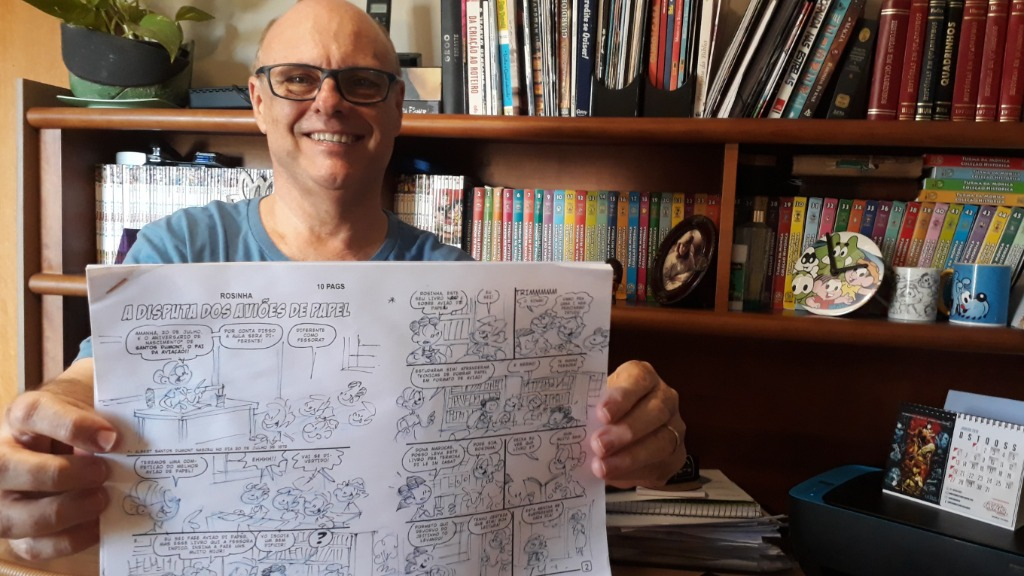 Gerson escreve as história da Turma da Mônica (Foto: História do Dia) - Foto: ACidade ON - Ribeirão Preto