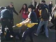 Vídeo: GMs e manifestantes entram em confronto em Barão
