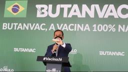 Doria participa do início da aplicação da Butanvac em Ribeirão