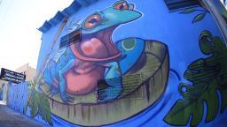 Reservatório do Daerp ganha grafite em homenagem ao Aquífero Guarani