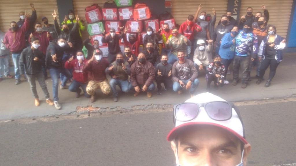 Entregadores aderiram a um protesto nacional - Foto: Rede social