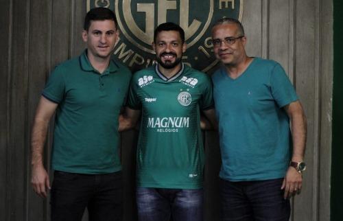 Guarani apresenta novos jogadores. Foto: Divulgação/Guarani - Foto: Divulgação/Guarani