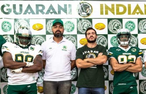 Crédito: Divulgação - Guarani Indians apresenta uniformes para temporada 2018. Crédito: Divulgação