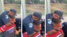 Guardas dizem que homem levou mata-leão por tentar mordê-los