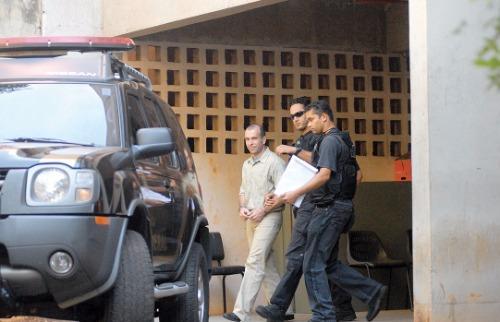 Weber Sian/A Cidade - 4.set.2008 - O ex-investigador Ricardo José Guimarães é preso durante investigação de suposto grupo de extermínio
