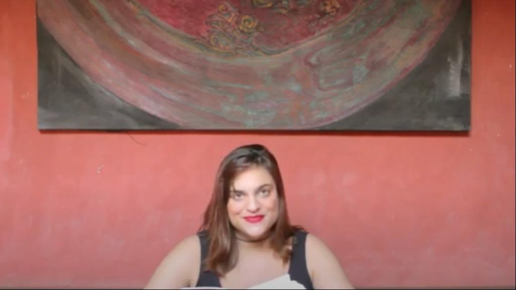 Paula Santiago, direto do Pátio interno da Casa Do Sol - Foto: Instituto Hilda Hilst