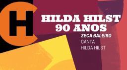 Retrospectiva Flip: Zeca Baleiro Canta Hilda Hilst