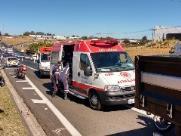 Homem é socorrido em estado grave após acidente na Washington Luís