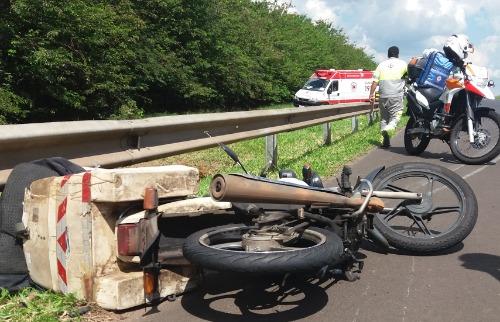 ACidade ON - São Carlos - Homem ficou ferido após acidente de moto em São Carlos