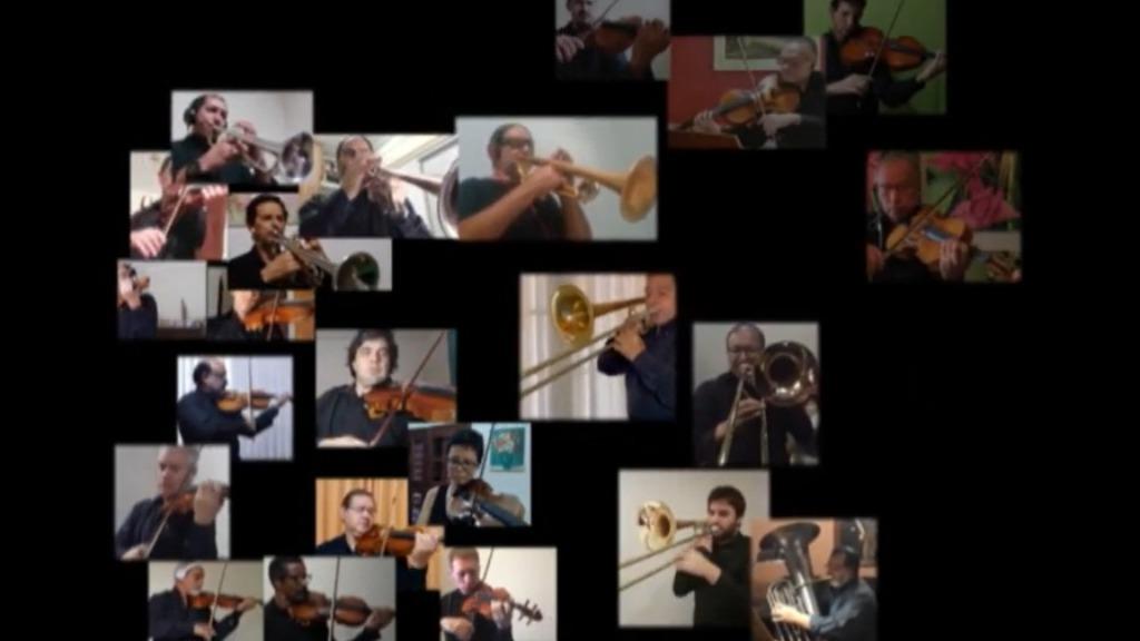 Homenagem feita pela Sinfônica de Campinas (Foto: Reprodução) - Foto: (Foto: Reprodução)