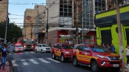 Incêndio em prédio no Centro de Ribeirão mobiliza Bombeiros