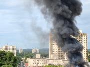 Explosão atinge clube de tiro na avenida Caramuru