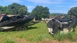Cinco lanchas são atingidas por incêndio em Rifaina