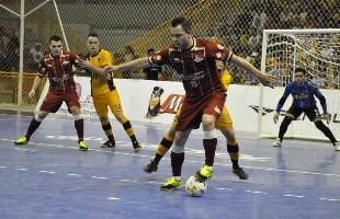 Danilo Camargo / Divulgação Magnus Futsal - Ala Augusto marcou o gol de honra da Intelli/Orlândia, mas o time sofreu outra derrota nos jogos decisivos contra o Sorocaba