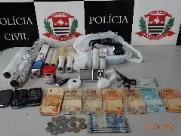 Jovem é preso com drogas e R$ 6,8 mil em dinheiro