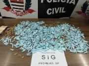 Polícia prende suspeito com 843 pinos de cocaína em Pedreira