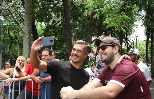 Ivan Moré e a Caravana do Globo Esporte estiveram em Araraquara (Foto: Gabriela Martins) - Foto: ACidade ON - Araraquara