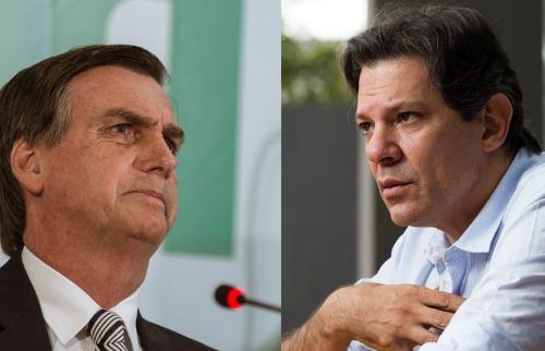 Os candidatos Jair Bolsonaro (PSL) e Fernando Haddad (PT) - Foto: Ricardo Borges e Danilo Verpa / Folhapress