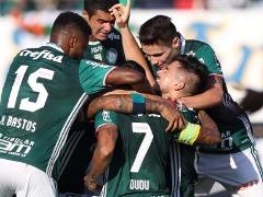 Jogadores do Palmeiras comemoram vitória sobre o Linense na Arena da Fonte (Agência Palmeiras) - Foto: ACidade ON - Araraquara