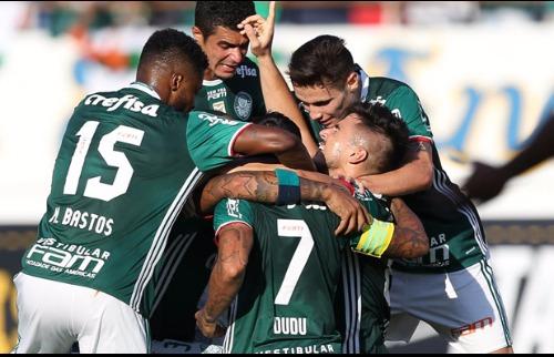 ACidade ON - Araraquara - Jogadores do Palmeiras comemoram vitória sobre o Linense na Arena da Fonte (Agência Palmeiras)