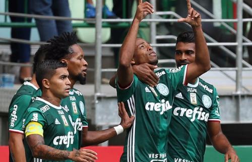 Divulgação - Jogadores do Palmeiras comemoram gol contra Ferroviária (Agência Palmeiras)