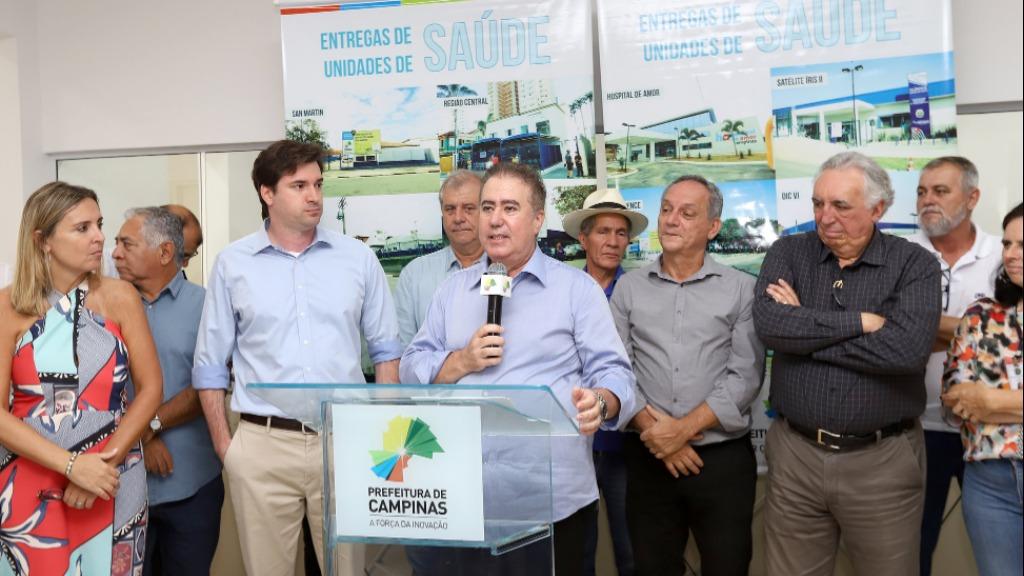 Jonas Donizette durante o lançamento do CS do Jardim Capivari (Foto: Divulgação/PMC) - Foto: (Foto: Divulgação/PMC)