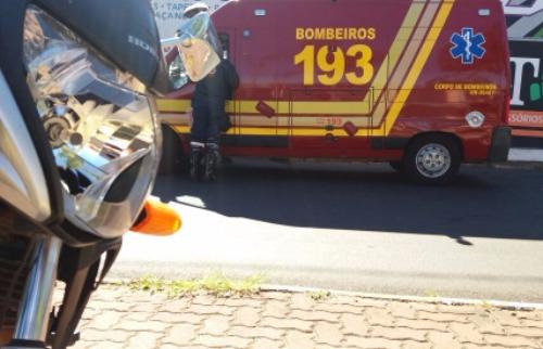 Jovem ficou ferido em acidente de moto - Foto: ACidade ON - São Carlos