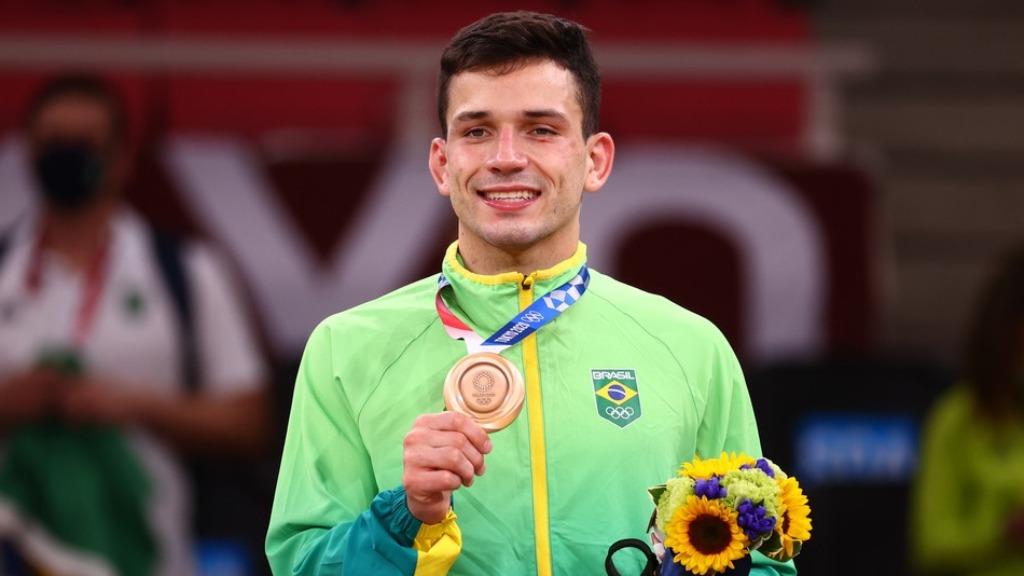 Judoca Daniel Cargnin conquista a medalha de bronze, a segunda do Brasil nas Olimpíadas (Foto: Reuters/Sergio Perez) - Foto: Reuters/Sergio Perez