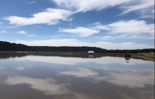 Lagoa de sedimentação começa a ser limpa em Araraquara (Foto: Milton Filho) - Foto: ACidade ON - Araraquara
