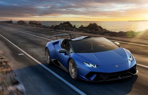Lamborghini Huracán Performante Spyder  é a versão conversível do super esportivo - Foto: Divulgação