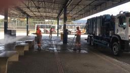 Equipamento produzido em São Carlos é usado na desinfecção de áreas públicas