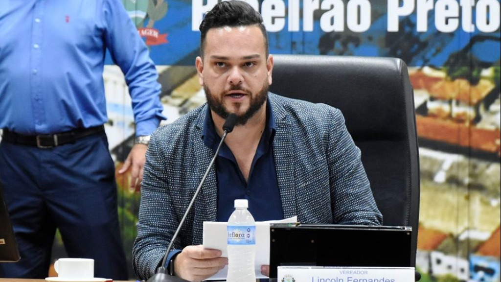 Vereador Lincoln Fernandes (PDT) (Foto: Thaisa Coroado/Câmara Ribeirão) - Foto: divulgação