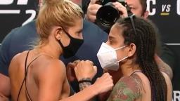 Livinha Souza bate peso para luta do UFC contra Ashley Yoder
