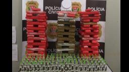 Polícia apreende mais de 100 tijolos de maconha em Ribeirão