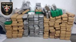 Policiais do Baep apreendem quase 100 quilos de maconha