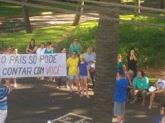 Manifestação contra corrupção em Araraquara - Foto: Da reportagem